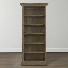 Compass Western Brown Compass Tall Single Open Bookcase