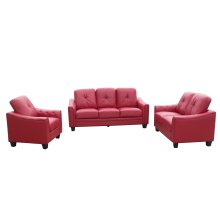 Walden Red Bonded/PU Chair