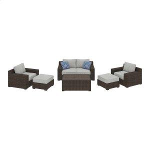 Ashley Furniture Alta Grande - Beige/brown 6 Piece Patio Set