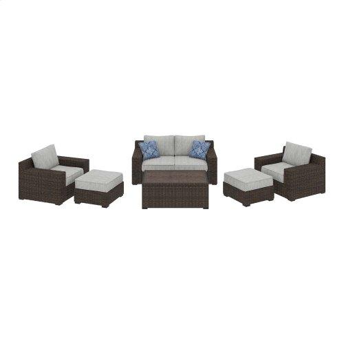 Alta Grande - Beige/Brown 6 Piece Patio Set