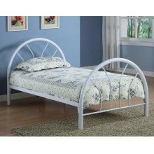Transitional White Twin Bed