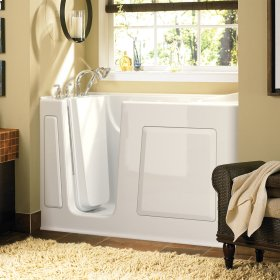 Gelcoat Value Series 30 x 60 Inch Walk-in Tub with Combination Massage  Left Drain  American Standard - White