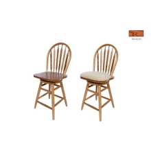 Solid Oak Straight Leg Barstool