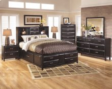 Kira - Almost Black 5 Piece Bedroom Set