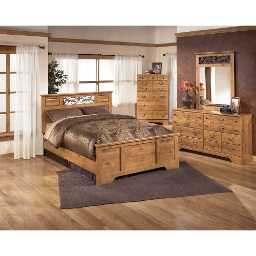 Bittersweet - Light Brown 3 Piece Bed Set (Queen)