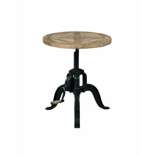 Industrial Black End Table