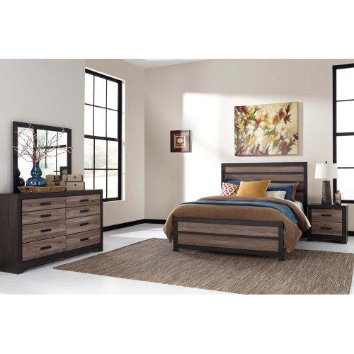 Harlinton - Warm Gray/Charcoal 3 Piece Bed Set (Queen)