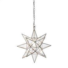 Small Clear Star Chandelier