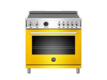 36 inch Induction Range, 5 Heating Zones, Electric Self-Clean Oven Yellow