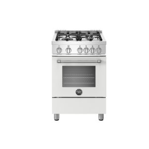 Bertazzoni24 inch All Gas Range, 4 Burners Bianco Matt