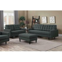 Kesson Mid-century Modern Brown Two-piece Living Room Set