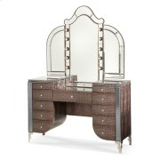 Upholstered Vanity & Mirror Product Image