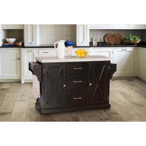 Hillsdale FurnitureBrigham Kitchen Island In Black With Granite Top
