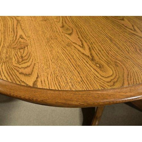 Classic Oak Laminate Drop Leaf Pedestal Top