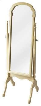This elegant cheval mirror adds an often-overlooked decorative touch to a room. Featuring a swivel-tilt design, this full-length mirror can easily be set to a desired angle by adjusting the antique brass finished thumb screws on either side. Crafted from Product Image