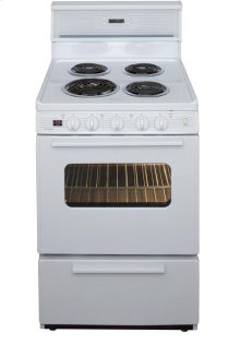 24 in. Freestanding Electric Range in White