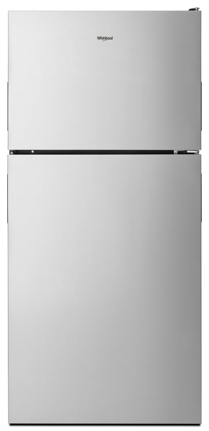Whirlpool30-Inch Wide Top Freezer Refrigerator - 18 Cu. Ft. Fingerprint Resistant Stainless Steel