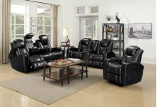 Omni Black Loveseat