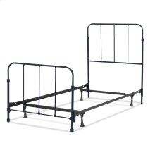 Nolan Complete Kids Bed with Metal Duo Panels, Space Black Finish, Twin