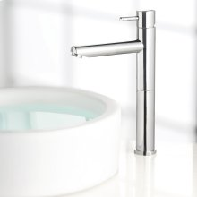 Serin 1-Handle Monoblock Vessel Bathroom Faucet - Polished Chrome
