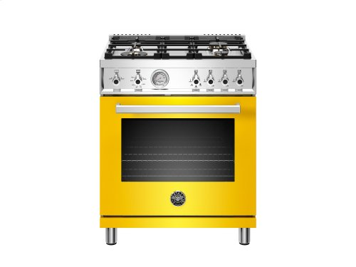 30 inch All Gas Range, 4 Brass Burner Yellow