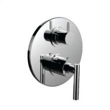 "7098tj-tm - 1/2"" Thermostatic Trim With 3-way Diverter Trim (shared Function) in Bright Pewter"