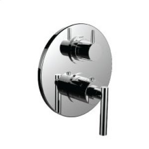 "7098tj-tm - 1/2"" Thermostatic Trim With 3-way Diverter Trim (shared Function) in Unlacquered Brass"