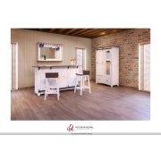 """30"""" Stool - with wooden seat & base- White finish Product Image"""