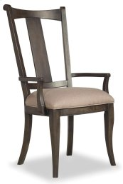 Dining Room Vintage West Upholstered Splatback Arm Chair