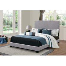 Boyd Upholstered Grey King Bed