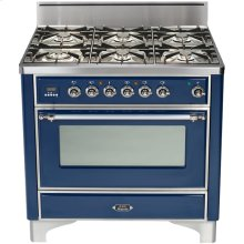 "Stainless Steel with Chrome Trim 36"" - 6 Burner Gas Range"