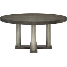 Linea Round Dining Table in Cerused Charcoal (384)