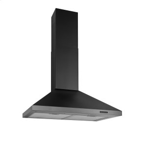 BroanBroan® 30-Inch Convertible Wall-Mount Chimney Range Hood, 400 CFM, Black Stainless Steel
