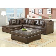 Darie Casual Brown Sectional Product Image