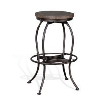 "30""H Metal Swivel Stool"