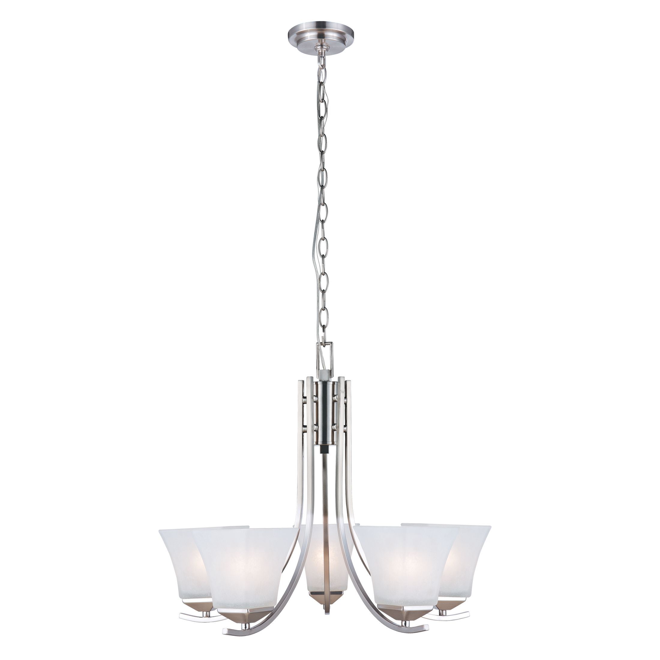 Torino 5-Light Chandelier, Satin Nickel #514836