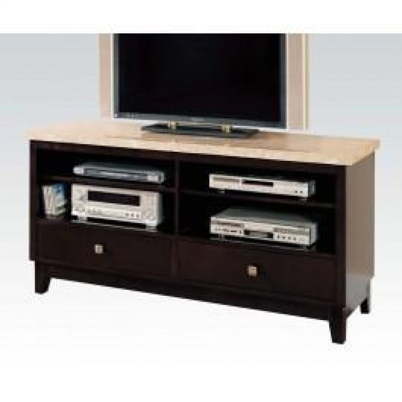 Tv Console W White Marble Top