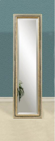 Silver & Gold Standing Mirror 18x64