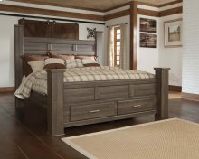 Juararo - Dark Brown 4 Piece Bed Set (King)