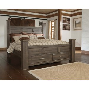 Ashley Furniture Juararo - Dark Brown 4 Piece Bed Set (King)