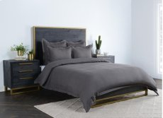 Harlow Charcoal Queen Duvet 92x90 Product Image