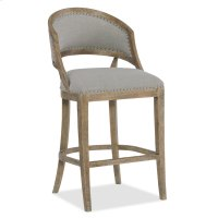 Dining Room Boheme Garnier Barrel Back Bar Stool Product Image