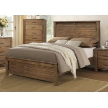 5/0 Queen Panel Bed - Satin Mindi Finish