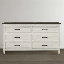 Bella 6 Drawer Stone Top Dresser