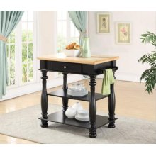 Avondale Black Kitchen Island