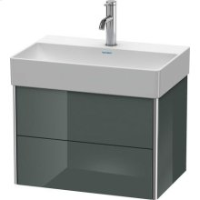 Vanity Unit Wall-mounted Compact, Dolomiti Gray High Gloss Lacquer