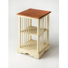 "Is it a bookcase or is it a table"" It is both! Timeless in its inspiration, this bookcase table is crafted from mahogany wood solids and features a two-tone finish of cream below with a crackled mahogany top resembling crusty bread."