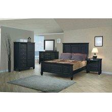 Sandy Beach Black Eastern King Storage Bed