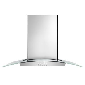 "Whirlpool30"" Modern Glass Wall Mount Range Hood"