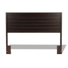 Uptown Wooden Headboard Panel with Horizontal Board Design, Espresso Finish, Full / Queen